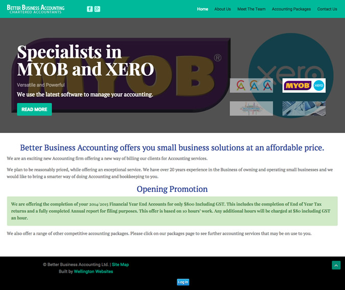 better business accounting website design wellington