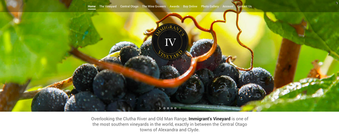 immigrants vineyard wellington websites