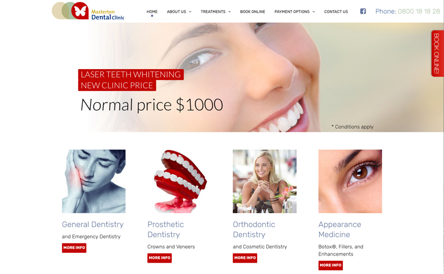masterton dental clinic wellington websites design
