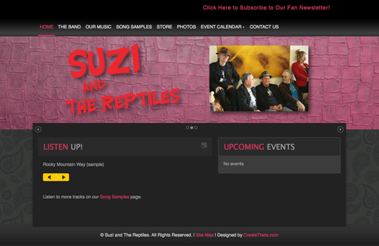 Suzi and The Reptiles - www.suziandthereptiles.com
