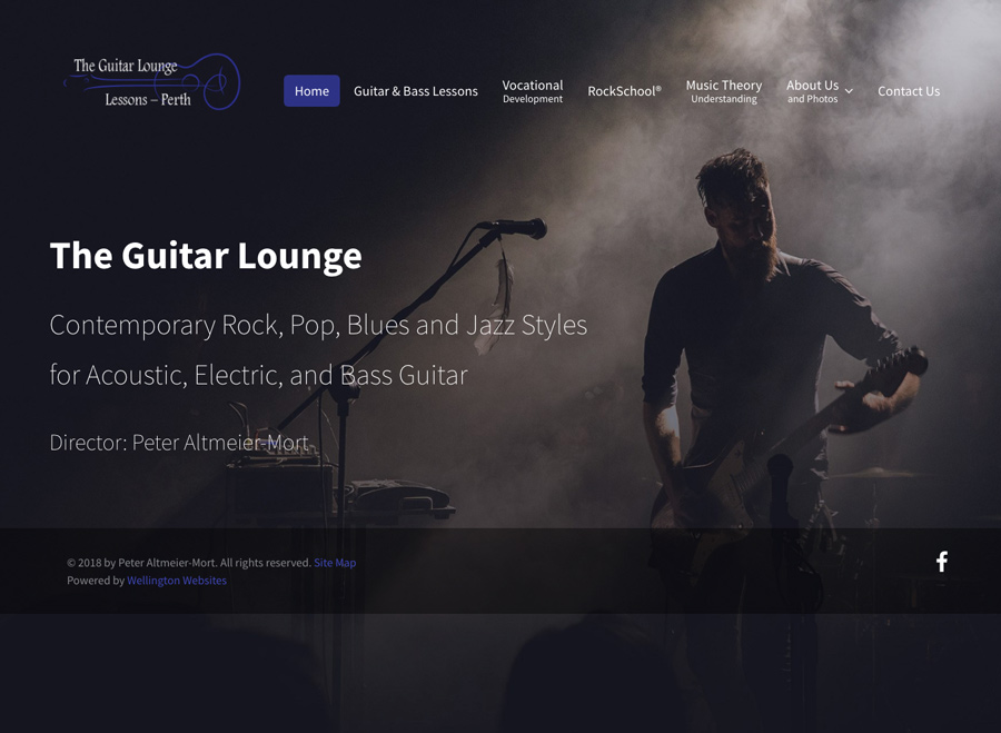 the guitar lounge perth website design wellington